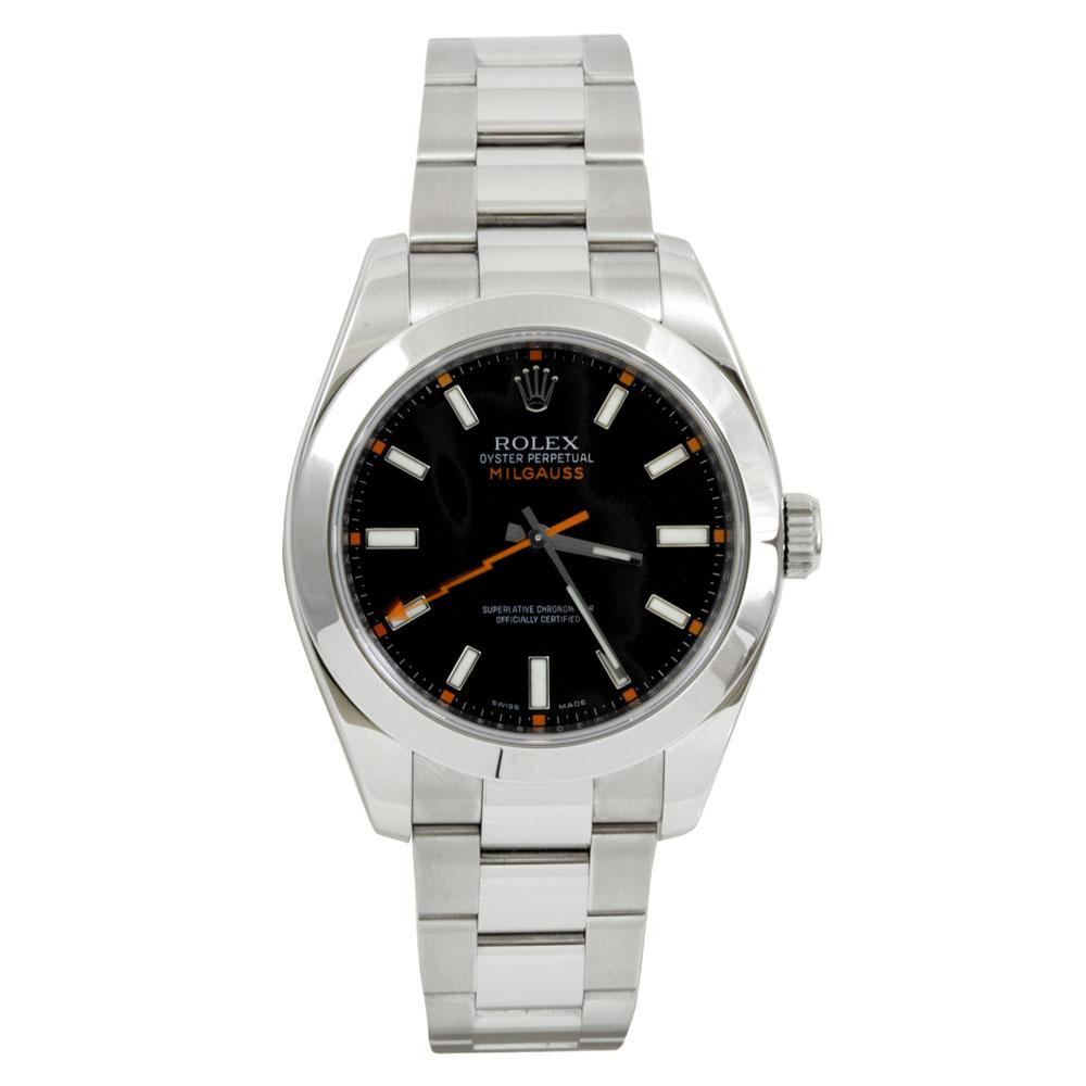 Rolex Mens Milgauss - Stainless Steel Black Dial 116400 40MM Display Model