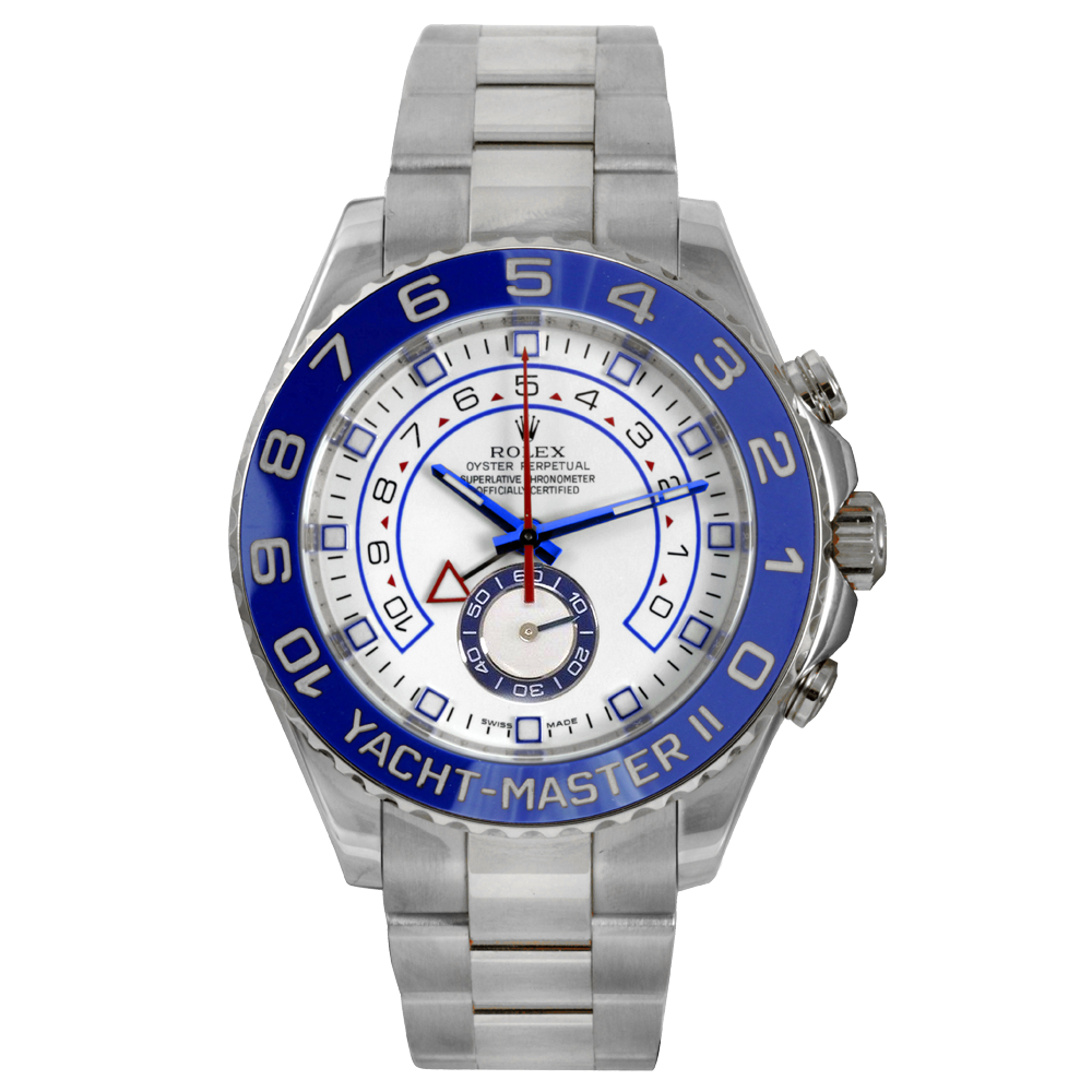 Rolex Mens Yachtmaster II - Stainless Steel White Dial - Oyster Bracelet 44 MM 116680