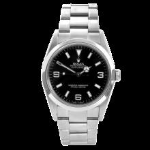 """Rolex Mens Explorer I - Stainless Steel Black Dial 114270 36MM Model """"M"""" Serial Bezel Engraved Model"""
