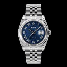 Rolex Mens Datejust - Stainless Steel Blue Jubilee Arabic Dial - Domed/Smooth Bezel - Jubilee Bracelet 36 MM 116200