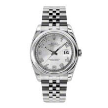Rolex Mens Datejust - Stainless Steel Silver Concentric Arabic Dial - Domed/Smooth Bezel - Jubilee Bracelet 36 MM 116200