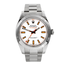 Rolex Mens Milgauss - Stainless Steel White Dial 116400 40MM Display Model