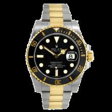 Rolex Mens Two Tone Submariner - Black Dial & Ceramic Bezel 116613LN