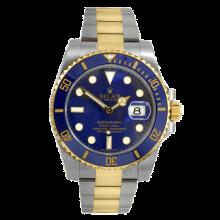 Rolex Mens Two Tone Submariner - Blue Dial & Ceramic Bezel 116613LB