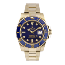Rolex Mens Yellow Gold Submariner - Blue Dial & Ceramic Bezel 116618 Display Model