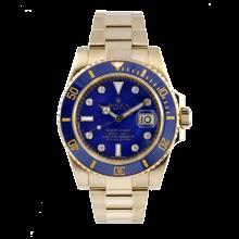 Rolex Mens Yellow Gold Submariner - Original Blue Diamond Dial & Ceramic Bezel 116618 Display Model