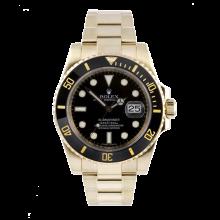 Rolex Mens 18K Yellow Gold Submariner - Black Dial & Ceramic Bezel 116618 Display Model