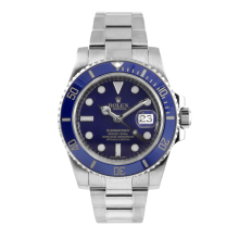 Rolex Mens 18K White Gold Submariner - Blue Dial And Ceramic Bezel 116619 Display Model