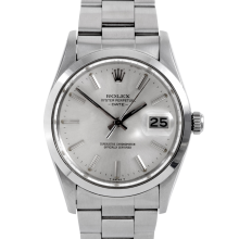 Rolex Mens Stainless Steel Date - 15200 Model with Silver Stick Dial - Smooth Bezel - Oyster Band