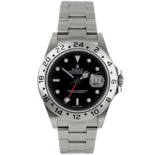 "Rolex Mens Explorer II - Stainless Steel Black Dial 16570 40MM ""No Holes"" Case Model"