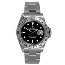 Rolex Mens Explorer II - Stainless Steel Black Dial 16570 40MM 1990s Model
