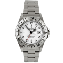 Rolex Mens Explorer II - Stainless Steel White Dial 16570 40MM 1990s Model