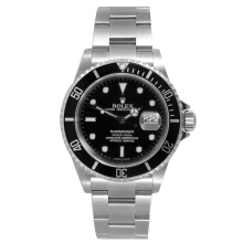 Rolex Mens Submariner - Stainless Steel Black Dial & Bezel 16610 2000s Model
