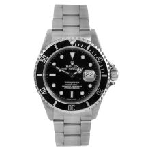 "Rolex Mens Submariner - Stainless Steel Black Dial & Bezel 16610 ""No Holes"" Case Model"