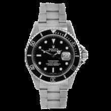 Rolex Mens Submariner - Stainless Steel Black Dial & Engraved Bezel 16610 Late 2000s Model