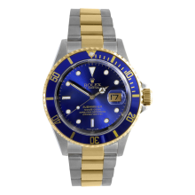 Rolex Mens Two Tone Submariner - Blue Dial & Bezel 16613 1990s Model