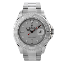 Rolex Mens Yacht-Master - Stainless Steel Platinum With Engraved Bezel 16622 40MM Model