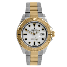 Rolex Men's Two Tone Yacht-Master - White Dial 16623 40MM Model