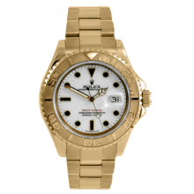 Rolex Men's 18K Yellow Gold Yacht-Master - Full Size With A White Dial 40MM 16628