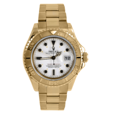 Rolex Men's Yellow Gold Yacht-Master - White Dial 16628 40MM Model