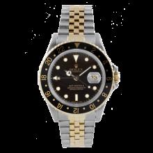 Original Rolex Mens 18K/SS GMT-Master II - Black Dial/Black Bezel - Jubilee Band - 16713