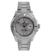 Rolex Yachtmaster - Stainless Steel And Platinum Reference With A White Dial 35MM Model 168622