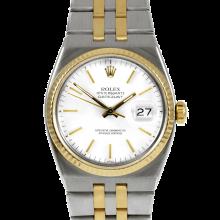 Rolex Mens Two Tone Quartz Datejust - with White Stick Dial- 17013 Model
