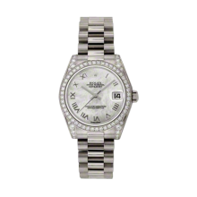 Rolex White Gold President - Mother of Pearl Roman Dial - Diamond Bezel/Lugs 31 MM 178159