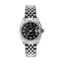Rolex Datejust - Stainless Steel Black Concentric Arabic Dial - Domed/Smooth Bezel - Jubilee Bracelet 31 MM 178240