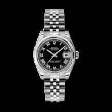 Rolex Datejust - Stainless Steel Black Roman Dial - Domed/Smooth Bezel - Jubilee Bracelet 31 MM 178240