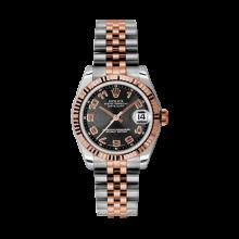 Rolex Mens Two Tone Midsize Datejust - Rose Gold Black Concentric Arabic Dial - 18K Fluted Bezel - Jubilee Bracelet 31 MM 178271