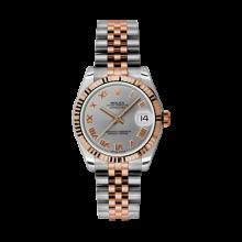 Rolex Mens Two Tone Midsize Datejust - Rose Gold Gray Roman Dial - 18K Fluted Bezel - Jubilee Bracelet 31 MM 178271