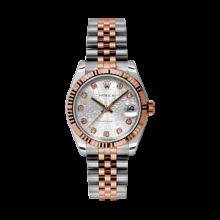 Rolex Mens Two Tone Midsize Datejust - Rose Gold Silver Jubilee Diamond Dial - 18K Fluted Bezel - Jubilee Bracelet 31 MM 178271