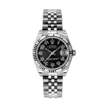 Rolex Datejust Stainless Steel - Black Concentric Arabic Dial - 18K Fluted Bezel - Jubilee Bracelet 31 MM 178274
