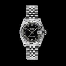Rolex Datejust Stainless Steel - Black Roman Dial - 18K Fluted Bezel - Jubilee Bracelet 31 MM 178274