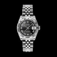 Rolex Datejust Stainless Steel - Black Sunbeam Roman Dial - 18K Fluted Bezel - Jubilee Bracelet 31 MM 178274