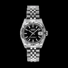 Rolex Datejust Stainless Steel - Black Index Dial - 18K Fluted Bezel - Jubilee Bracelet 31 MM 178274