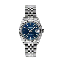 Rolex Datejust Stainless Steel - Blue Index Dial - 18K Fluted Bezel - Jubilee Bracelet 31 MM 178274