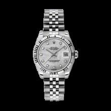 Rolex Datejust Stainless Steel - Mother of Pearl Diamond Dial - 18K Fluted Bezel - Jubilee Bracelet 31 MM 178274