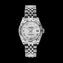 Rolex Datejust Stainless Steel - Mother of Pearl Roman Dial - 18K Fluted Bezel - Jubilee Bracelet 31 MM 178274