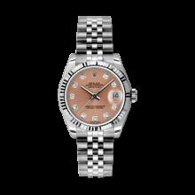 Rolex Datejust Stainless Steel - Pink Diamond Dial - 18K Fluted Bezel - Jubilee Bracelet 31 MM 178274