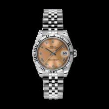 Rolex Datejust Stainless Steel - Pink Roman Dial - 18K Fluted Bezel - Jubilee Bracelet 31 MM 178274