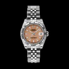 Rolex Datejust Stainless Steel - Pink Stick Dial - 18K Fluted Bezel - Jubilee Bracelet 31 MM 178274