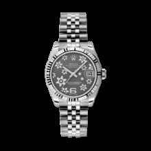 Rolex Datejust Stainless Steel - Rhodium Floral Dial - 18K Fluted Bezel - Jubilee Bracelet 31 MM 178274