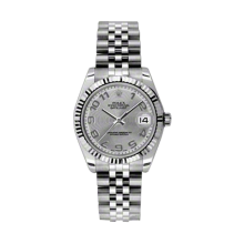 Rolex Datejust Stainless Steel - Silver Concentric Arabic Dial - 18K Fluted Bezel - Jubilee Bracelet 31 MM 178274