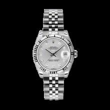 Rolex Datejust Stainless Steel - Silver Diamond Dial - 18K Fluted Bezel - Jubilee Bracelet 31 MM 178274