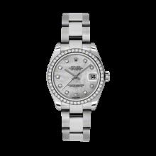 Rolex Datejust - Stainless Steel Mother of Pearl Diamond Dial - 18K Diamond Bezel - Oyster Bracelet 31 MM 178384