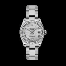 Rolex Datejust - Stainless Steel Mother of Pearl Diamond/Roman Dial - 18K Diamond Bezel - Oyster Bracelet 31 MM 178384