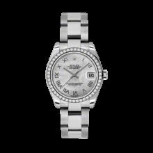 Rolex Datejust - Stainless Steel Mother of Pearl Roman Dial - 18K Diamond Bezel - Oyster Bracelet 31 MM 178384