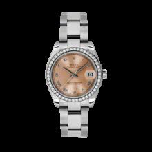 Rolex Datejust - Stainless Steel Pink Roman Dial - 18K Diamond Bezel - Oyster Bracelet 31 MM 178384